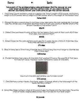 Lego Decimal Practice