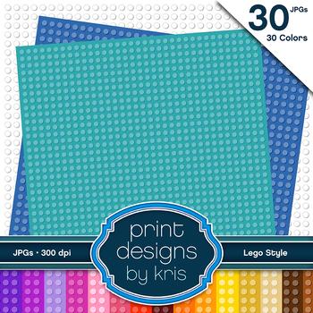 Lego Digital Backgrounds - 30 Colorful Lego Backgrounds