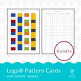 Lego® Duplo pattern cards BUNDLE