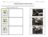 Lego EV3 Programming Motors Practice Activity