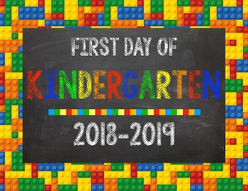 Lego First Day of School Signs