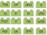 Lego Theme High Frequency Words