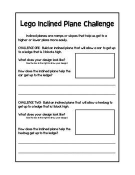 Lego Inclined Plane Challenge