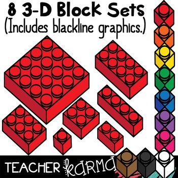 Lego Inspired 3-D Manipulative Blocks * Math Hands-on Strategy