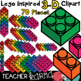 Lego Inspired 3-D Manipulative Clipart