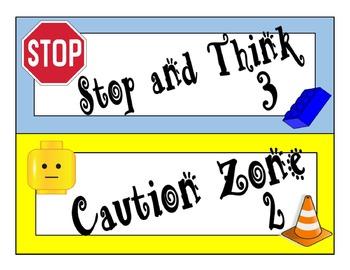 Lego Inspired Behavior Clip Chart