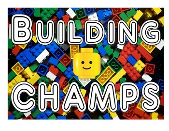 Lego Inspired CHAMPS   **Headers** for Displays