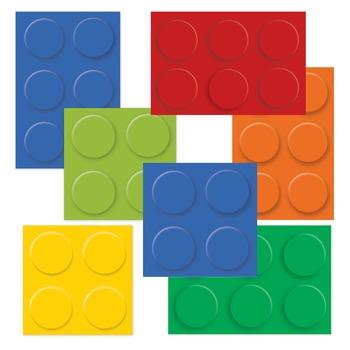 Lego Inspired Clip Art - Building Blocks 12 Designs
