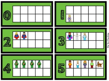 (Building Block Theme) Deck of Cards with Tens Frames