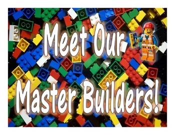 Lego Inspired *Meet the Master Builder* for BB's or Displays