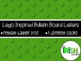 Lego Inspired Pennant Banner Bulletin Board Letters