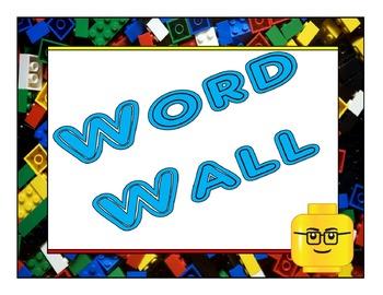 Lego Inspired *WORD WALL* Headers