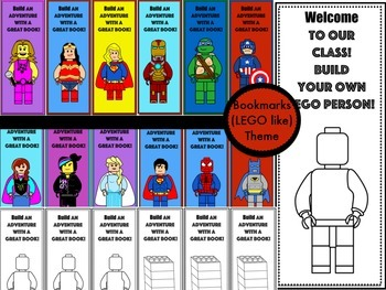 Building Block Themed Bookmarks