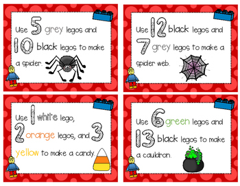 Lego Math Build Task Cards August through December