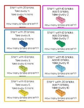 Lego Maths Challenge Cards