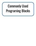 Lego Mindstorms EV3 Robotics Programming Blocks Anchor Chart