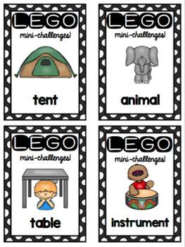 Lego Morning Work or Indoor Recess Mini-Challenge Bins for STEAM / STEM