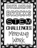 Building Blocks Morning Work/Indoor Recess Mini-Challenge Bins for STEAM / STEM