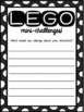 Lego Morning Work or Indoor Recess Mini-Challenges for STEAM/STEM