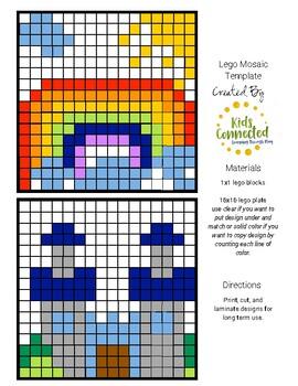 Lego Mosaic Design Rainbows and Castles