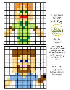 Lego Mosaic Designs for Minecraft Lovers