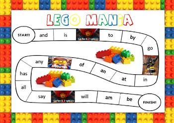 Lego Movie Sight Word Board Game
