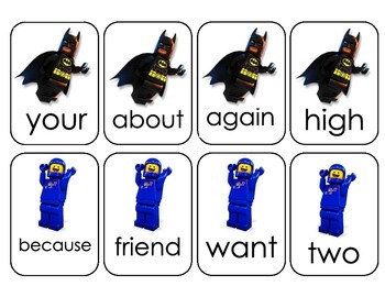 Lego Movie Sight Word Game