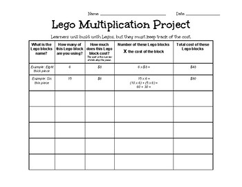 Lego Multiplication Project