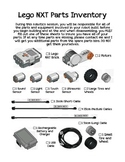 Lego NXT Robotics Parts Inventory List