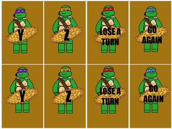 Building Blocks Themed Turtle Memory: Numbers and Letters
