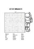 Lego Ninjago Word Search