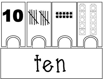 Lego Number Puzzles 1-10 (Black and White)