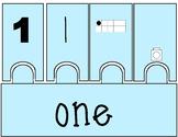 Lego Number Puzzles 1-10 (Pastel)