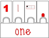 Lego Number Puzzles 1-10 (Rainbow)