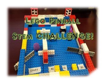 Lego Pinball STEM Challenge Worksheets - Using Simple Machines!
