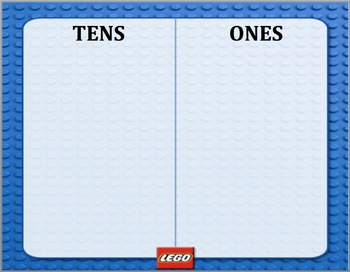Lego Place Value Chart (tens and ones)