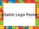 Lego Posters (Editable)