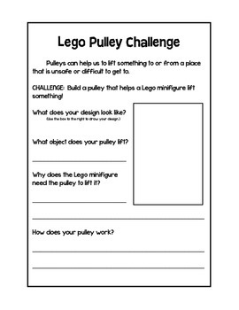 Lego Pulley Challenge