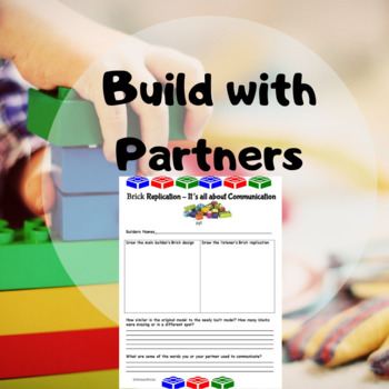 Communication Activity for use with building blocks and bricks