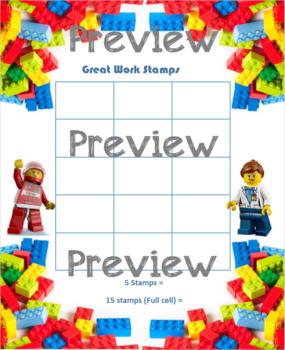 Lego Reward Stamp Sheets