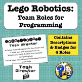 Lego Robots: Team Roles for Programming