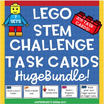 Lego STEM Task Cards Mega Bundle - 5 Sets of Task Cards- 156 Task Cards Total!