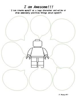 Lego Self-Esteem Writing