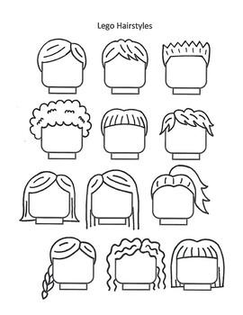 Lego Self-Portrait Hairstyles