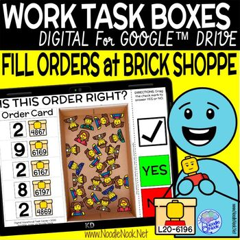 Brick Shop DIGITAL and Printable Vocational Work Task Box (DISTANCE LEARNING)