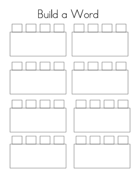 Lego Sight Word Recording Sheet
