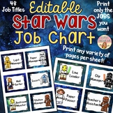 Lego Star Wars Job Chart EDITABLE & CUSTOMIZABLE