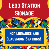 Lego Station Signage for Classrooms and for Libraries