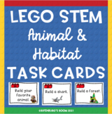 Lego Stem Task Cards Animal and Habitat Edition - Habitat