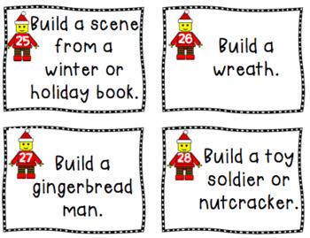 Lego Stem Task Cards Winter Edition - Christmas Legos - Winter Legos